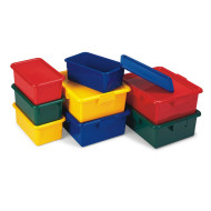 Storage Box w/Lid, Red