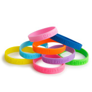 Inspirational Phrases Silicone Bracelets (pack of 24)
