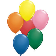 "9"" Qualatex® Balloons - Assorted Colors  (bag of 100)"