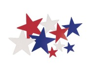 Liberty Star Cutouts  (pack of 6)