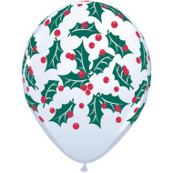 Holly Berry Latex Balloons (bag of 50)