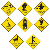 Halloween Road Sign Cutouts (pack of 4)