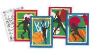 "Sand Art Boards 5""x7"" - Sports  (pack of 12)"