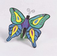 Unfinished Wooden Butterflies, Unassembled (pack of 12)