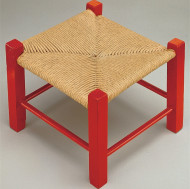 Unfinished Fiber Rush Stool, Unassembled