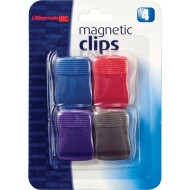 Colored Magnetic Clips (set of 4)