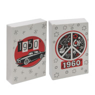 Jumbo Trivia Playing Card Set, 50s and 60s (set of 2)