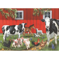 Red Barn 35-Piece Tray Puzzle