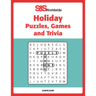 Holiday Puzzles, Games and Trivia Book