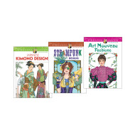 Creative Haven Fashion Coloring Book (set of 3)