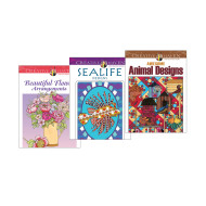 Creative Haven Nature Coloring Books (set of 3)