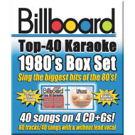 Party Tyme Karaoke CD+G Billboards 80's Box Set (set of 4)