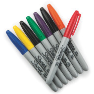 Sharpie® Permanent Markers, Fine Point  (set of 8)