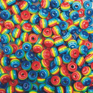 Rainbow Beads 1/2-lb Bag (bag of 750)