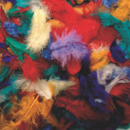 Assorted Mini Fluff Feathers  (bag of 200)