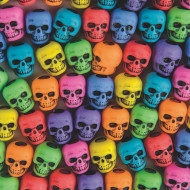 Assorted Color Skull Beads 1/4 lb Bag (bag of 250)