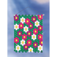 Beaded Banner Weaving Kit, Flower