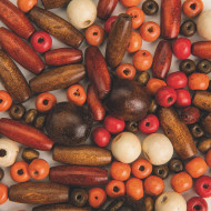 Wooden Jewelry Bead Mix (pack of 100)