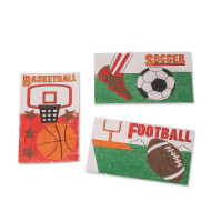 Sports Sand Art Boards Craft Kit (makes 24)