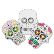 Color-Me™ Sugar Skull Masks (pack of 24)