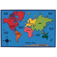 World Map Value Rug 6
