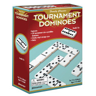Double Six Dominoes, White w/ Black Dots