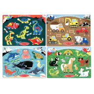 Melissa & Doug® Peg Puzzle Set (set of 4)