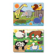 Melissa & Doug® Touch and Feel Puzzle Set (set of 2)