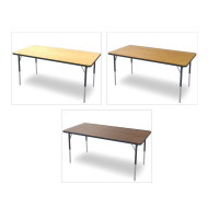 "Marco® Activity Tables, Wood Top, 30""x72"" 21-30""H"