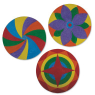Sand Art Mandala Craft Kit (makes 12)