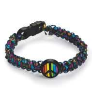 Rainbow Peace Sign Bracelets Craft Kit (makes 24)