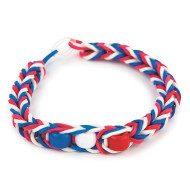 Patriotic Rubber Band Bracelet Craft Kit (makes 48)