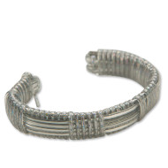 Rexlace Cuff Silver Bracelet Craft Kit (makes 12)