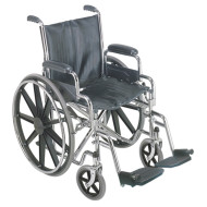 "DMI 18"" Wheelchair with Removable Arms"