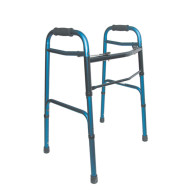 DMI Aluminum Folding Walker, Rubber Tip