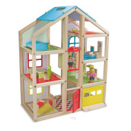Melissa & Doug® Dollhouse and Furniture Set (set of 18)