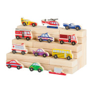 Wood Vehicle Collection (set of 12)