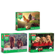 100 Piece Jigsaw Puzzles Set (set of 3)