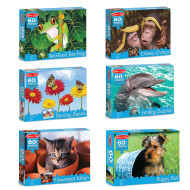 60 Piece Jigsaw Puzzles Set (set of 6)