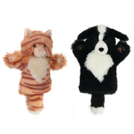 Cat and Dog Puppet Set (set of 2)