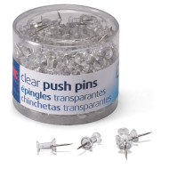 Push Pins, Clear (tub of 200)