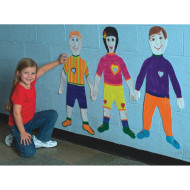 Life-Size Finger Paint Paper - Kid Shape  (pack of 24)