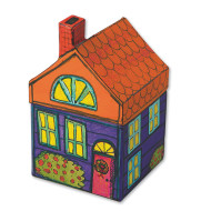 Paper Mache House (pack of 6)