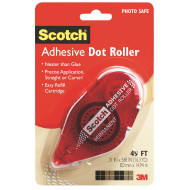 Scotch® Permanent Double Sided Adhesive Dot Roller, 49