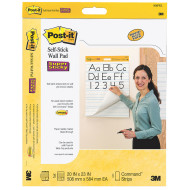 "Post It® Self Stick Primary Ruled Wall Pad, 20"" x 23"" (pack of 2)"