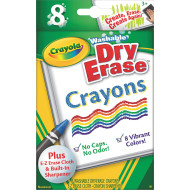 Crayola® Washable Dry Erase Crayons  (box of 8)