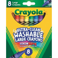 Crayola® Large Washable Crayons (box of 8)