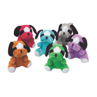 Plush Multicolor Bulldogs (pack of 12)
