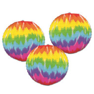 Tie-Dyed Paper Lanterns (pack of 3)