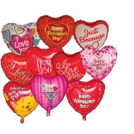 "18"" Mylar Valentine Balloon Assortment  (pack of 10)"